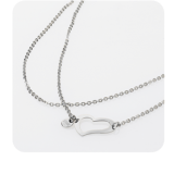 STORM Heart Necklace Silver