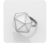 STORM Geo Ring Silver