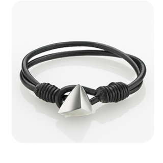 STORM Trygo Leather Bracelet Black